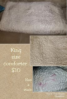 King size comforter and pillowcases