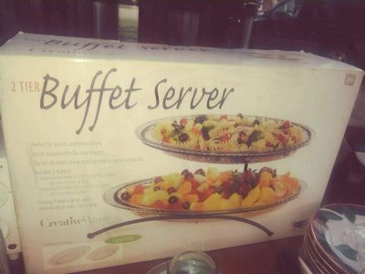 Buffet Server New in the Box taking offers