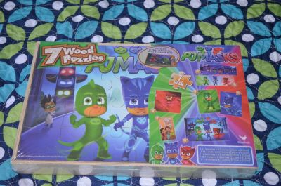 Brand New PJ Masks 7 Pack Wood Puzzles