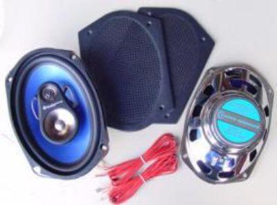Buy 6 x 9 Rear Car Speakers 3-way 200 watt New Retro Grills motorcycle in Fullerton, California, US, for US $77.00