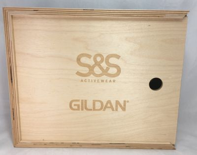 "S&S Activewear Gildan Wood Box 12""x10""x3.5"""