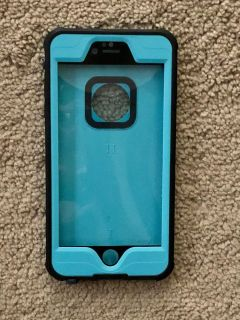 EUC waterproof impact strong iPhone 6S Plus case in teal and black