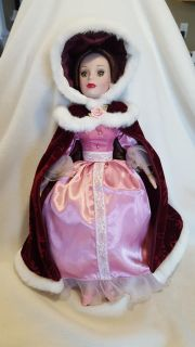 """Beautiful Disney Belle Porcelain Doll Beauty and the Beast 16"""" tall"""