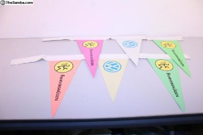 Original 1990's VW Fahrvergnugen Antenna Flags