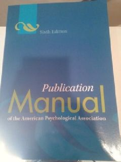 $20 OBO Publication Manual of the American Psychological Association - LIKE NEW