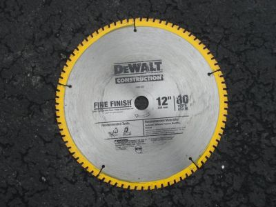 "DEWALT 12 "" , 80 TOOTH FINE FINISH SAW BLADE"