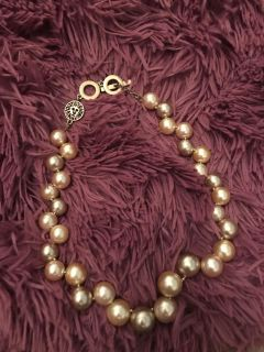 1980 s vintage two tone Anne Klein pearl necklace