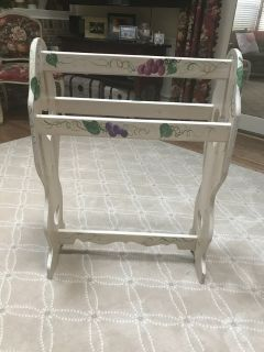 Hand painted Quilt Rack