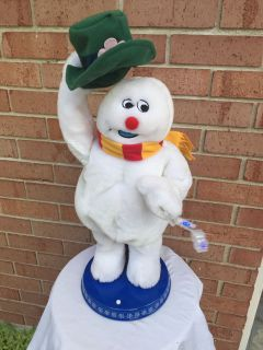 Vintage Gemmy Spinning Snowflake Frosty The Snowman In Box!!!