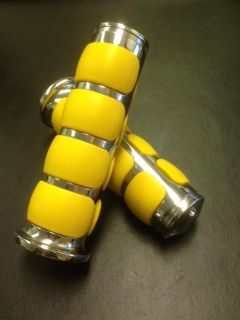 Find $ QUALITY CHROME YELLOW SUPER SOFT GRIPS STREET BOBBER HARLEY CHOPPER MOTORCYCLE motorcycle in Chino, California, US, for US $6.99