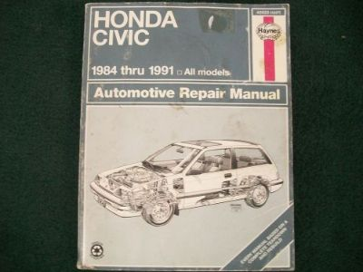 Purchase 1984-1991 Honda Civic Haynes Repair Manual, all models: 42023 (1227) motorcycle in Golden Valley, Arizona, United States, for US $9.41