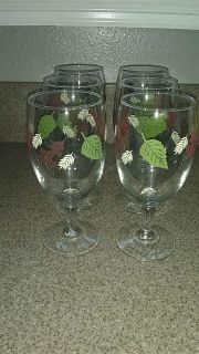 Fall time water goblets.