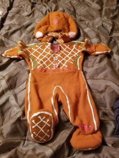 Gingerbread costume 18 mos