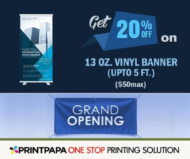 20% Off on Vinyl Banners(upto 5ft)