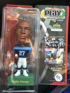 2001 NFL Edition EDDIE GEORGE Upper Deck Collectibles PLAY MAKERS + BONUS ITEMS. Brand new