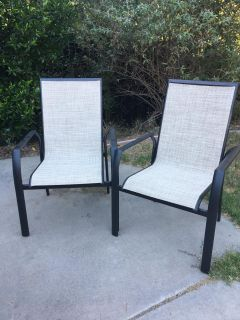 Two new patio chairs