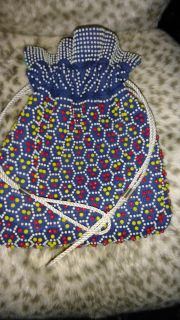 Vintage Candy Dot Beaded Reversible Purse