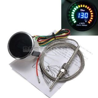"""Buy 2""""52mm Analog LED Digital Color Exhaust Gas Temp Temperature EGT Gauge CAR motorcycle in Sacramento, CA, United States, for US $47.95"""