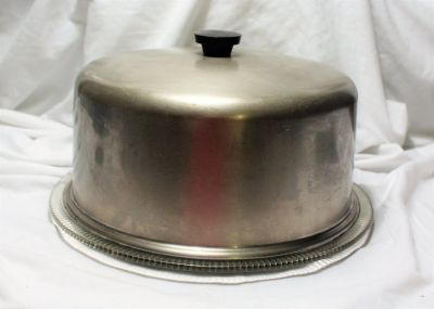 Vintage Antique Cake Pie Cover Holder Plate