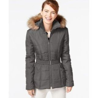 ***BRAND NEW***Ladies KRUSH Faux-Fur-Trim Belted Puffer Coat***SZ Med