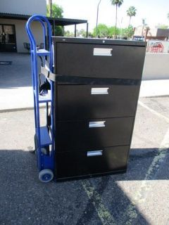 4 Drawer Lateral File Cabinet - Black RTR#7041419-14