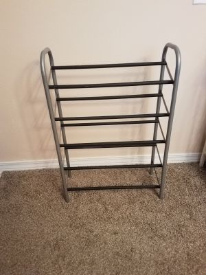 21X31, METAL SHOE RACK, EXCELLENT CONDITION, SMOKE FREE HOUSE