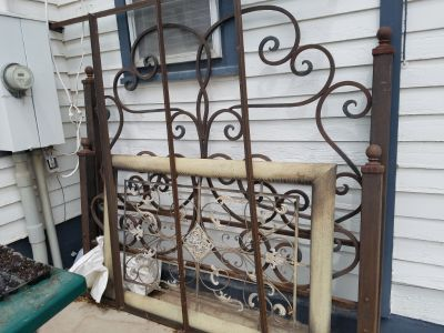 Custom Iron King Size Headboard/Footboard