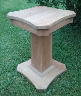 Unique oak pedestal