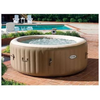 """New In Box Intex PureSpa 75"""" x 28"""" Round Inflatable Heated Bubble Spa"""