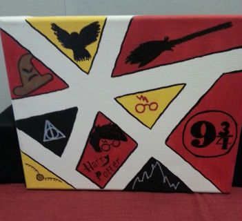 Harry Potter themed Canvas Painting