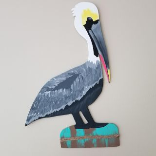 """Large 21"""" hand crafted pelican!"""