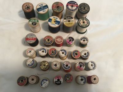 Vintage threads/wooden spools