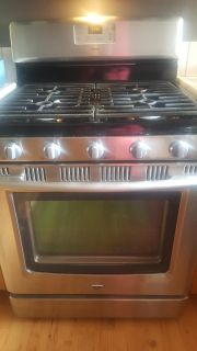 Maytag stainless steel stove