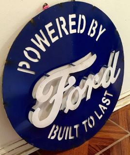 Metal Powered By FORD Sign