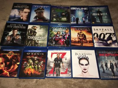 Blu-rays-Most have only been played once $5 each