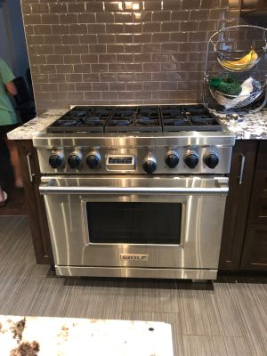 wolf gas range electric oven