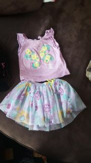 2 piece skirt outfit size 12 mos