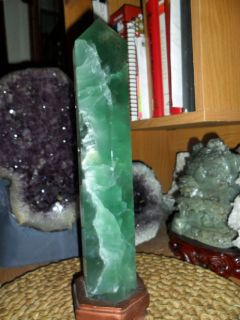 Exceptional and Beautiful Large Polished Fluorite Point
