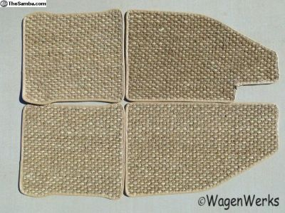 Bug Coco Mats - 1973 to 1979 Oatmeal Foot No Rest