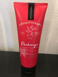 Bath and Body Works aromatherapy recharge Body Cream NEW