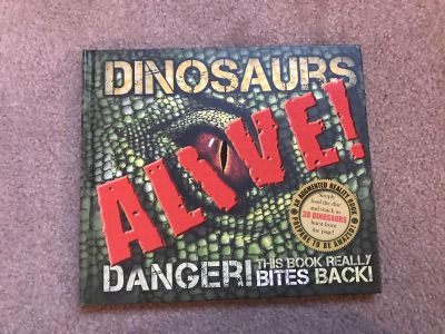 Dinosaurs ALIVE book with CD