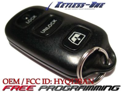 Buy 99-03 TOYOTA 4RUNNER OEM KEYLESS ENTRY REMOTE 4 BUTTON WINDOW FCC ID: HYQ12BAN motorcycle in Golden, Colorado, United States, for US $28.95