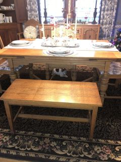 Antique piano bench table bench or side table