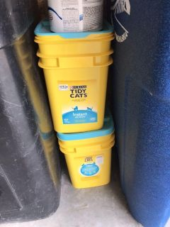 Empty cat litter containers-FREE