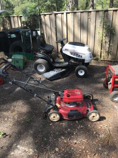 Looking For Broken Gas Powered Stuff Lawnmowers chainsaws weed eater ext.