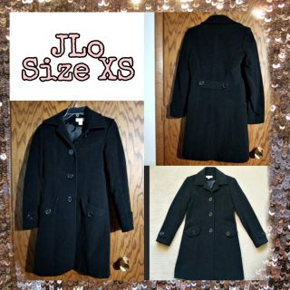 JLo Black Fitted Coat