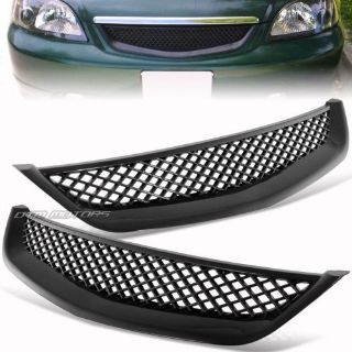 Purchase Type R Style Black ABS Front Grille Grill For 2001-2003 Honda Civic Sedan Coupe motorcycle in Rowland Heights, California, United States
