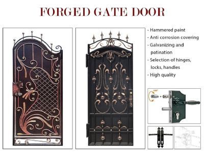 Forged gates door