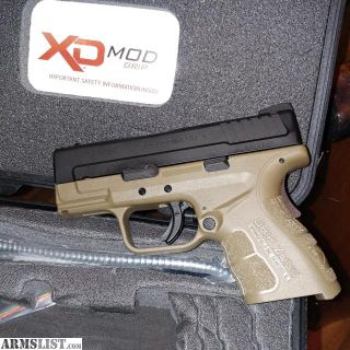 For Sale: Springfield Armory XDs Mod 2 with Grip Zone