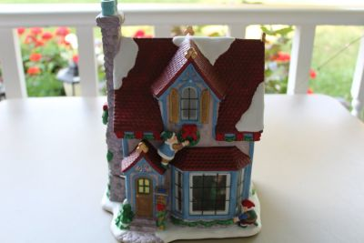 Christmas Musical Lighted Porcelain Smoker House